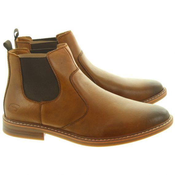 SKECHERS Mens 66406 Chelsea Boots In Tan