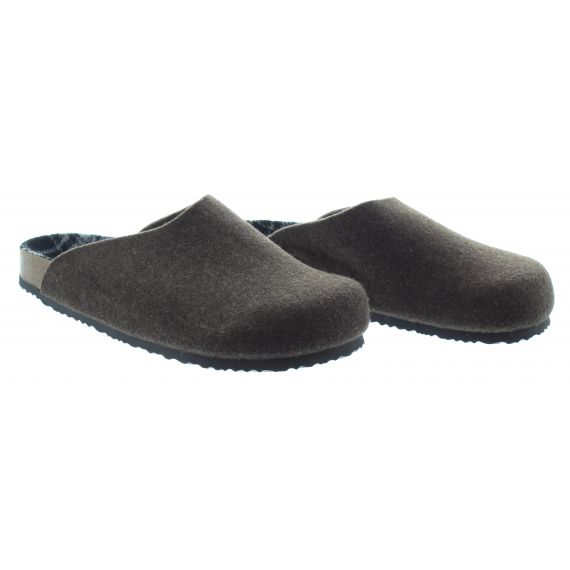 ADESSO Mens Adesso Oakley Slippers in Brown
