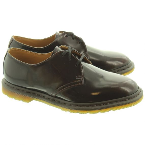 DR MARTENS Mens Archie Lace Shoes In Cherry