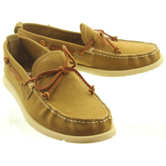 UGG Mens Beach Moccasin Slip On Shoes In Caramel
