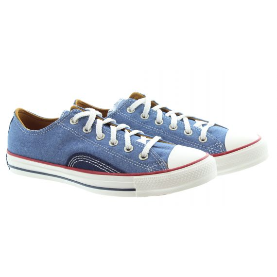 CONVERSE Mens Chuck Taylor All Star Ox Vintage Shoes In Navy