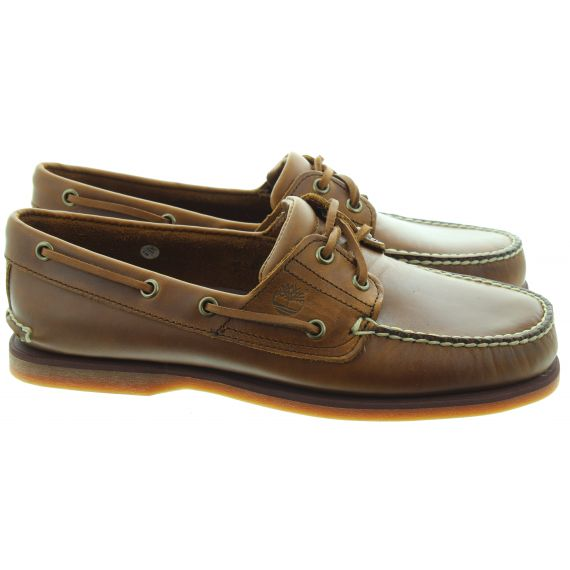 TIMBERLAND Mens Classic Boat Shoes In Brown