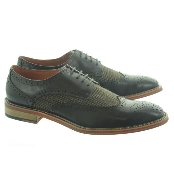 PAOLO VANDINI Mens Coy Tweed Lace Shoes In Brown