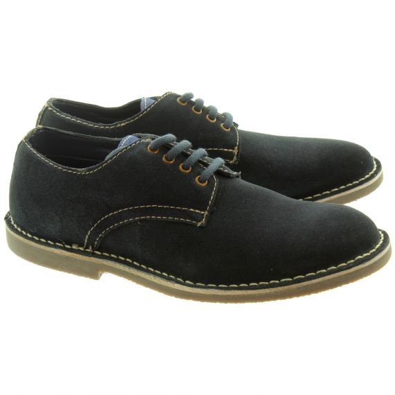 PAOLO VANDINI Mens Delson Lace Shoes In Navy