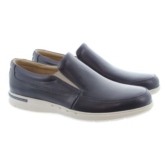 COUNTRY JACK Mens Henry Slip On Shoes In Navy