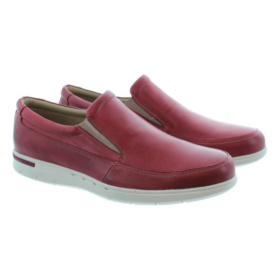 COUNTRY JACK Mens Henry Slip On Shoes In Red
