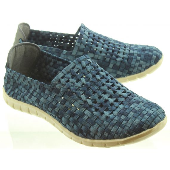 ADESSO Mens Jake Weave Shoes In Blue
