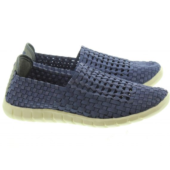 ADESSO Mens Jake Weave Shoes In Navy