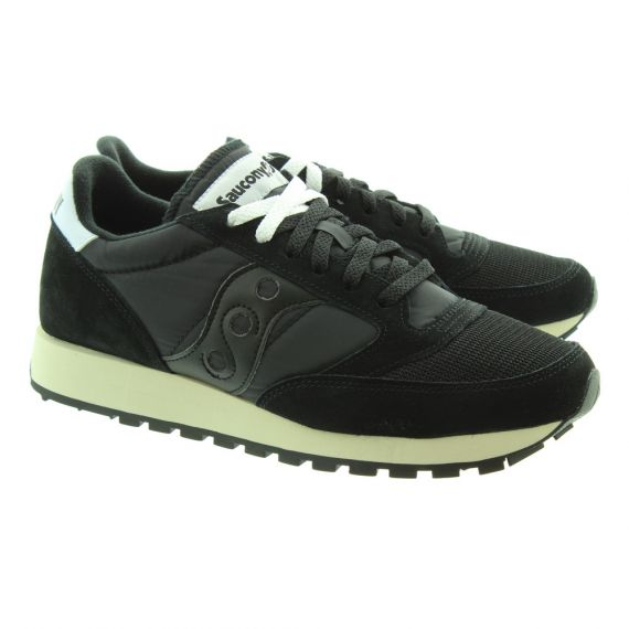 SAUCONY Adults Jazz Original Vintage Trainers In All Black