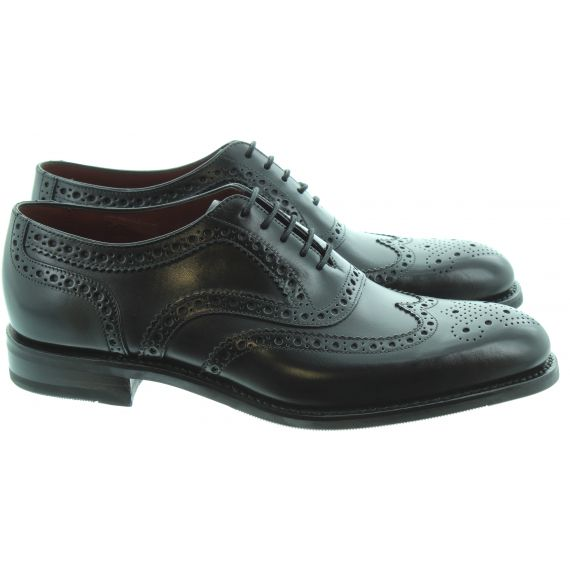 LOAKE Mens Kerridge Brogue Shoes In Black