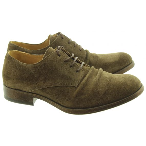 FLY Mens Mask Lace Shoes In Khaki Suede