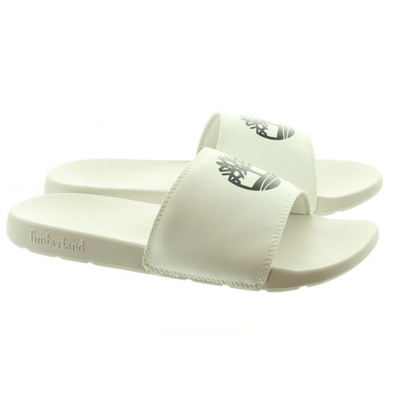 TIMBERLAND Mens Playa Slide Sandals In White