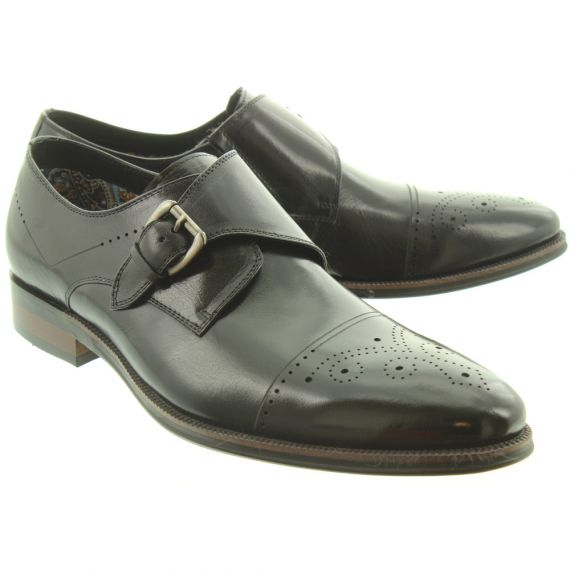 PAOLO VANDINI Mens Rambeau Buckle Shoes In Black