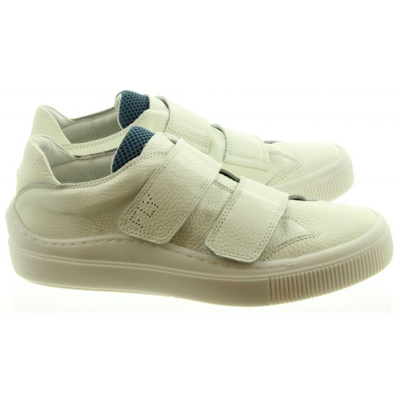 FLY Mens Sevu Velcro Trainers In White