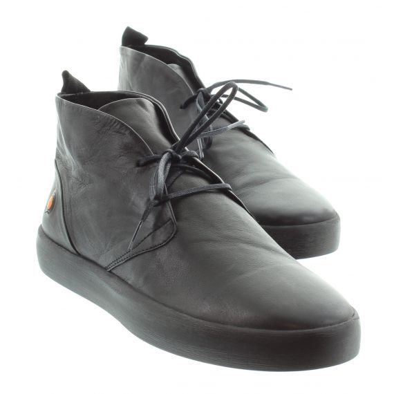 SOFTINOS Mens Softinos Rafa Lace Ankle in Black