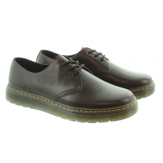 DR MARTENS Mens Thurston Low Shoes In Oxblood