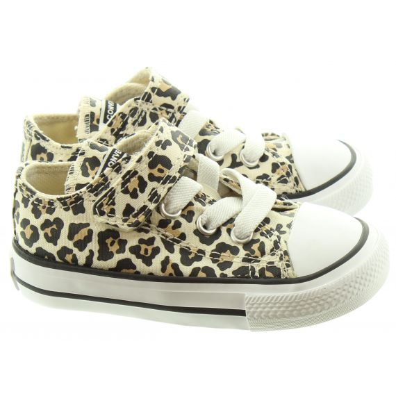 CONVERSE Kids Allstar 1V Ox Shoes In Leopard