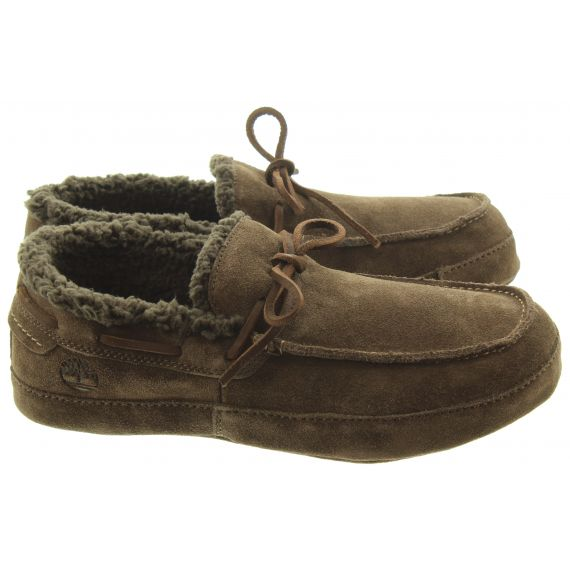 TIMBERLAND Mens Torrez Slippers In Brown