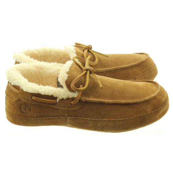 TIMBERLAND Mens Torrez Slippers In Rustic Tan