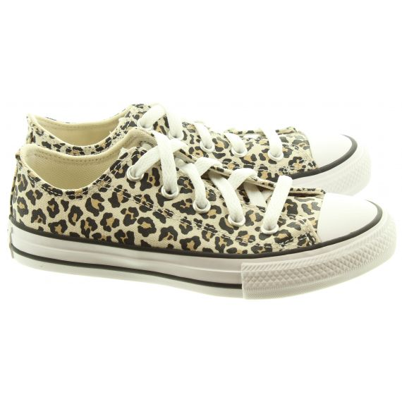 CONVERSE Kids Allstar Ox Shoes In Leopard