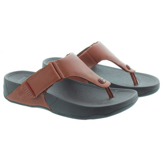 FITFLOP Mens Trakk 2 Toe Post Sandals In Dark Tan