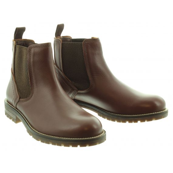 COUNTRY JACK Mens Trent Chelsea Boot in Chocolate