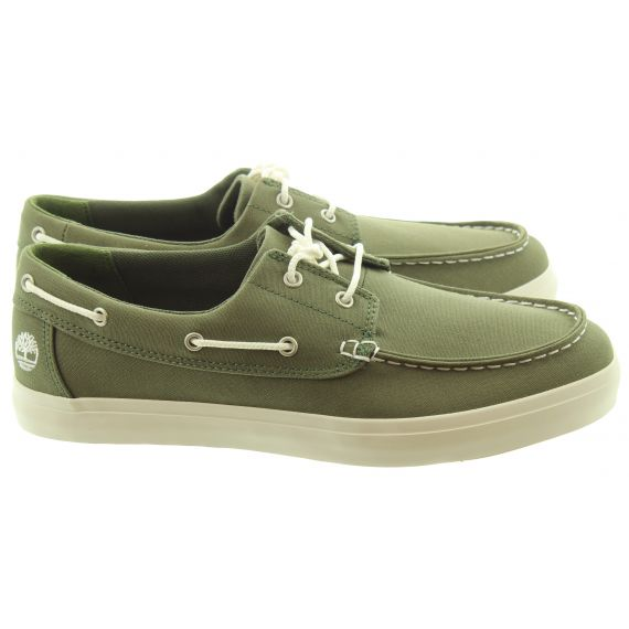 TIMBERLAND Mens Union Wharf Boat Shoes In Green