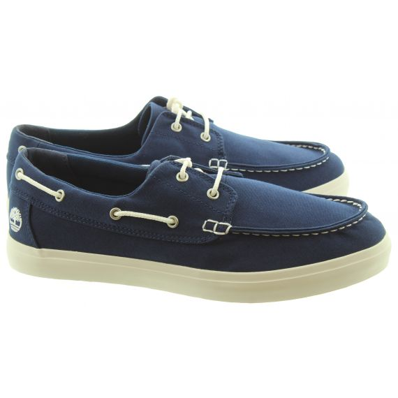 TIMBERLAND Mens Union Wharf Boat Shoes In Navy