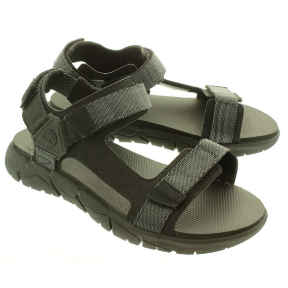 TIMBERLAND Mens Windham Trail Sandals In Black