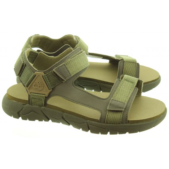 TIMBERLAND Mens Windham Trail Sandals In Green