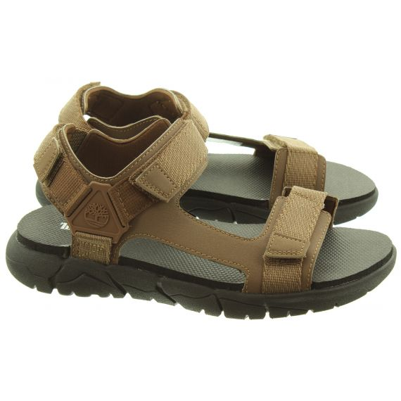 TIMBERLAND Mens Windham Trail Sandals In Brown