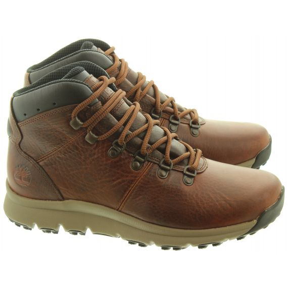 TIMBERLAND Mens World Hiker Boots In Brown