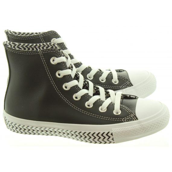 CONVERSE Ladies Mission V Hi Boots In Black