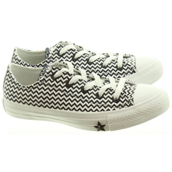 CONVERSE Ladies Mission V Ox Shoes In Black