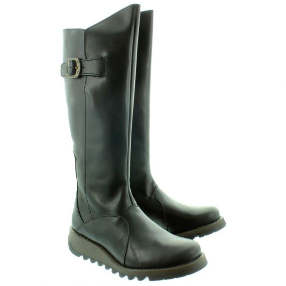 FLY Mol2 Flat Knee Boots in Black