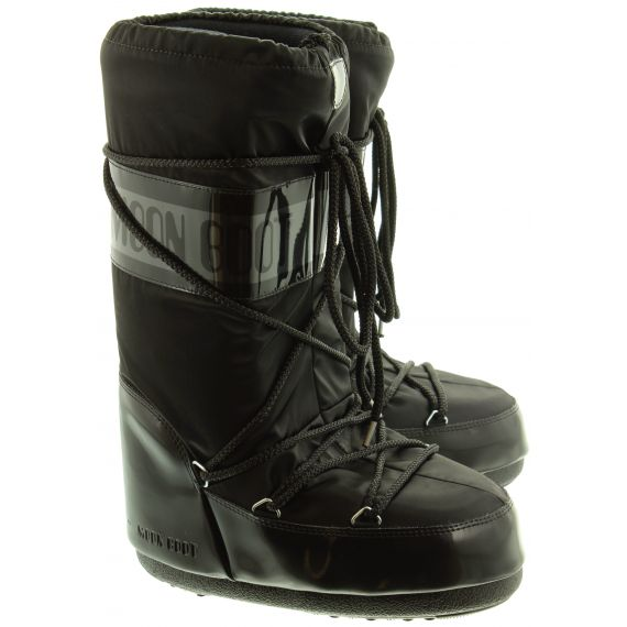 Ladies Moon Boot Glance In Black