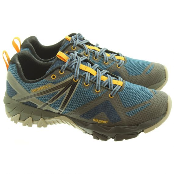 MERRELL Mens MQM Flex Gore-Tex® Mountain Shoes In Blue Wing