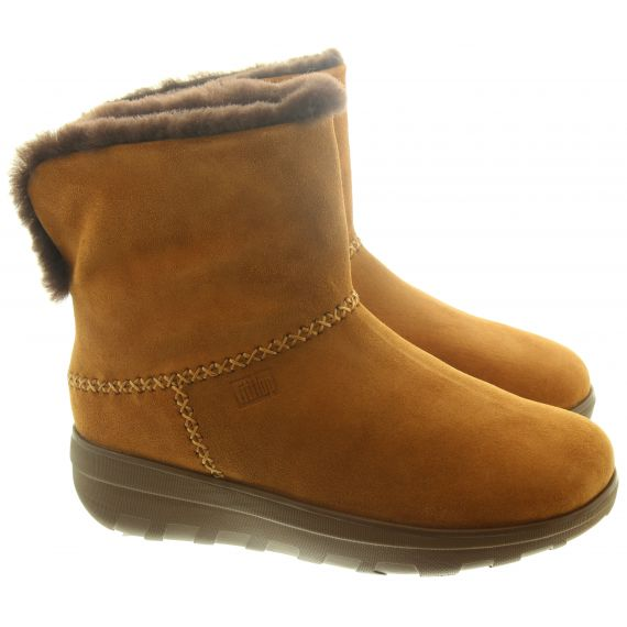 FITFLOP Ladies Mukluk Shorty 3 Boots In Chestnut
