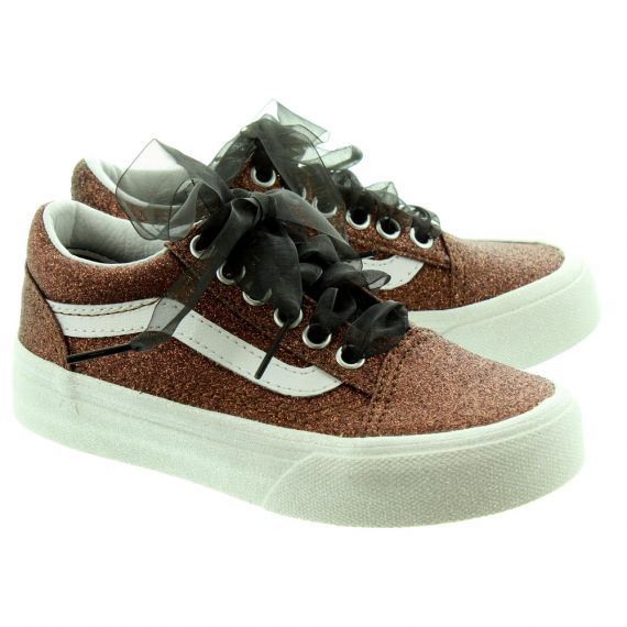 VANS Old Skool Kids Shoes In Bronze