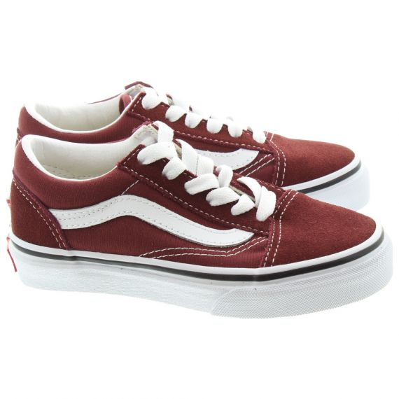 VANS Old Skool Kids Shoes In Burgundy