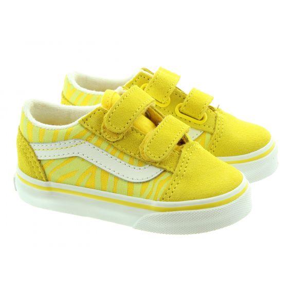 VANS Kids Old Skool Velcro In Yellow