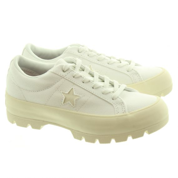 CONVERSE Ladies One Star Lugged In White