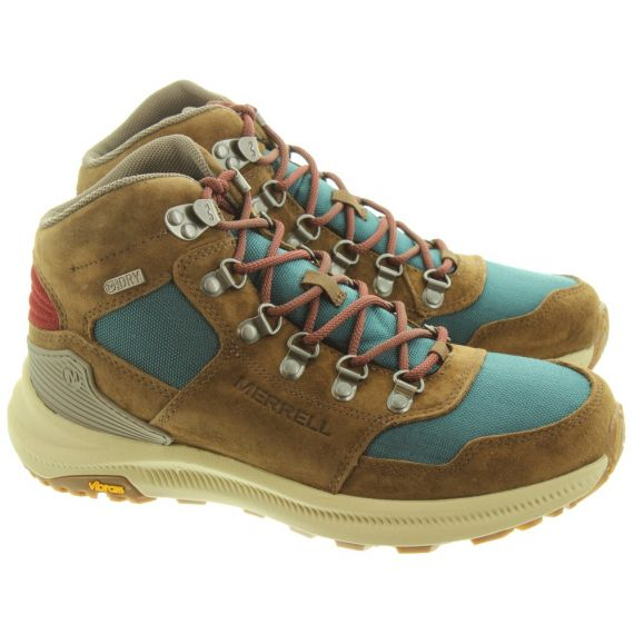 MERRELL Womens Ontario 85 Mid Waterproof Boots In Dragonfly