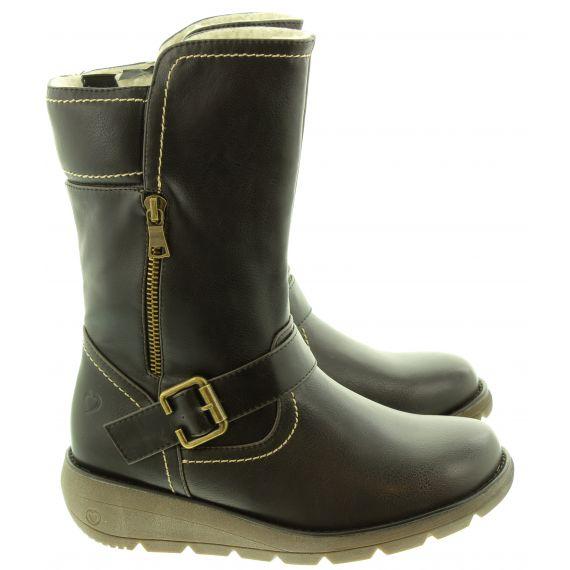 HEAVENLY FEET Ladies Pacific3 Calf Boots In Black