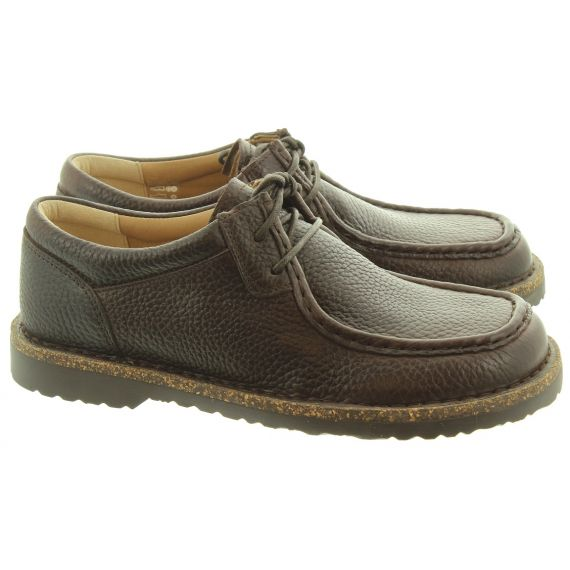 BIRKENSTOCK Mens Pasadena Lace Shoes In Espresso Brown