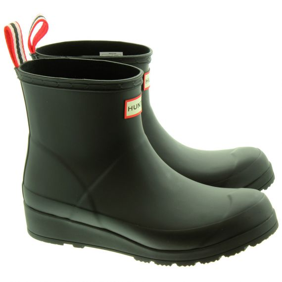 HUNTER Play Boot Short Wellies In Black