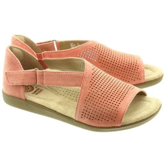 EARTH SPIRIT Ladies Redvale Sandals In Coral