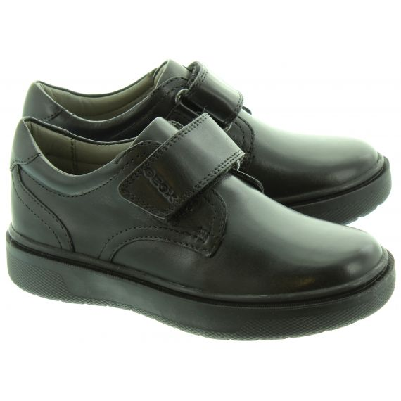 GEOX Riddock Plain Velcro Shoes In Black