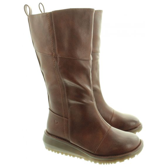HEAVENLY FEET Ladies Robyn Knee Boots In Chocolate