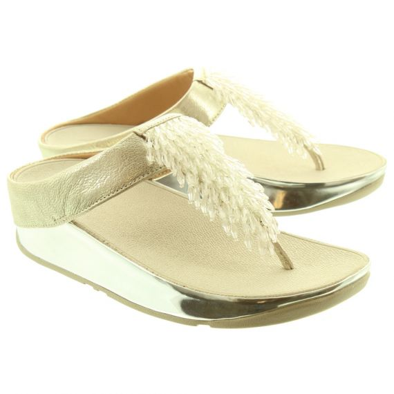 FITFLOP Ladies Rumba Toe Posts In Silver